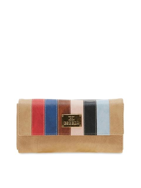 ESBEDA Women Multicoloured Striped Two Fold Wallet