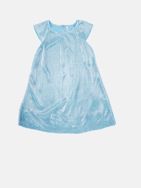 CHALK by Pantaloons Girls Blue Self Design A-Line Dress