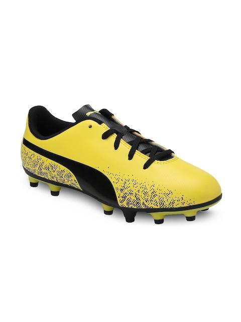 Puma Boys Yellow Truora FG Jr Football Shoes