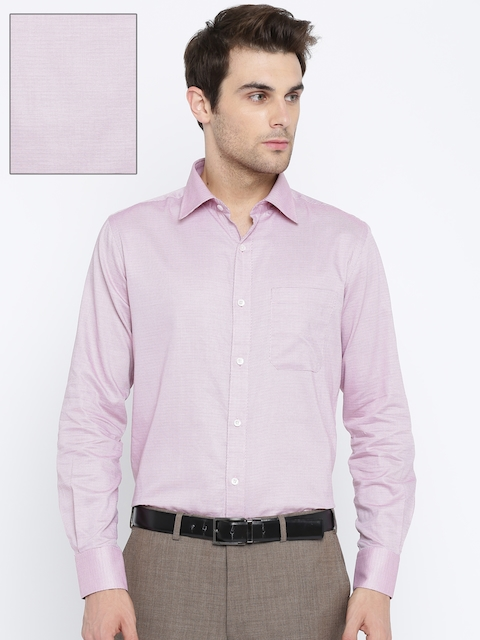 Raymond Men Purple Contemporary Regular Fit Self Design Formal Shirt