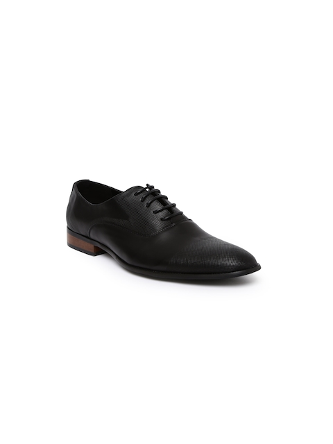 Tresmode Men Black Formal Shoes