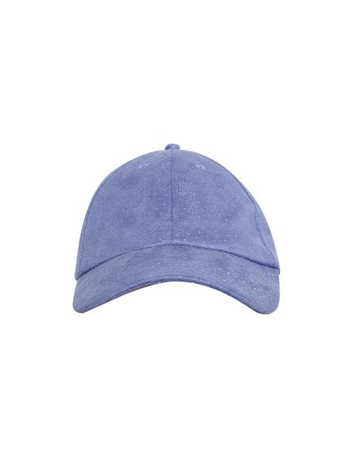 Blueberry Women Blue Studded Curved Peak Cap