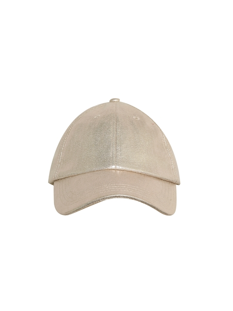 Blueberry Women Gold-Toned Curved Peak Cap