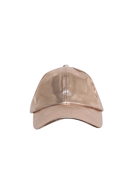 Blueberry Women Rose Gold-Toned Curved Peak Cap