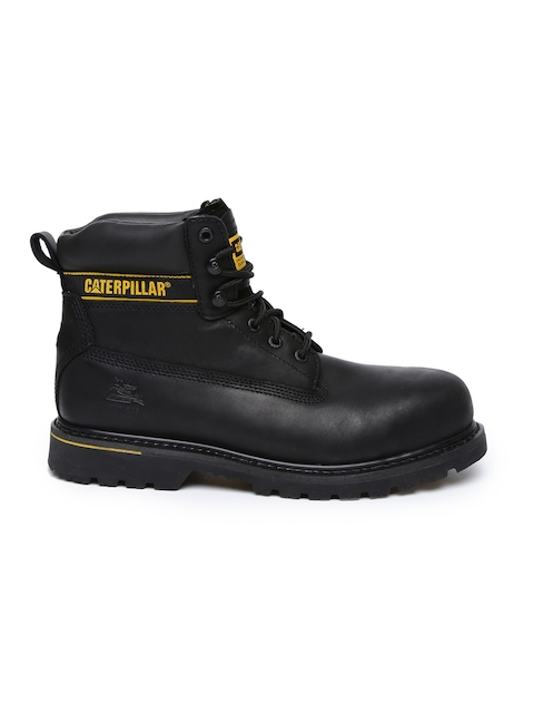 CAT Men Black Holton Flat Boots