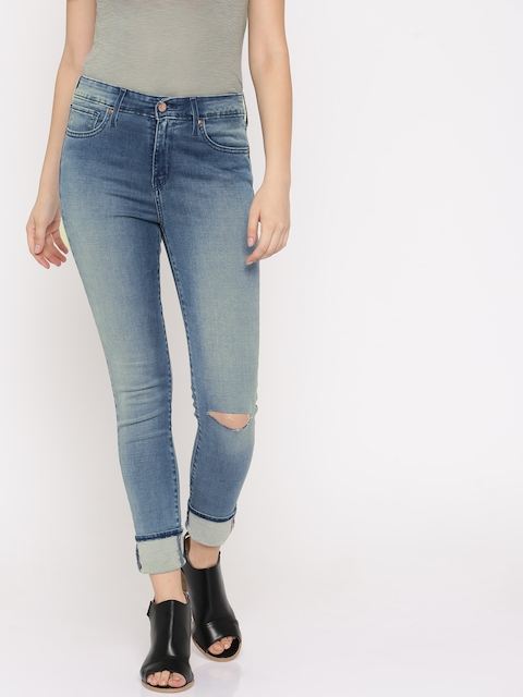 Levis Women Blue Skinny Fit High-Rise Clean Look Stretchable Jeans
