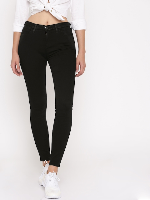 Levis Women Black Skinny Fit Mid-Rise Clean Look Stretchable Jeans
