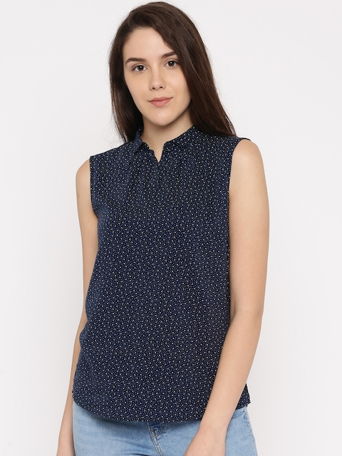 Levis Women Navy Blue Printed Top