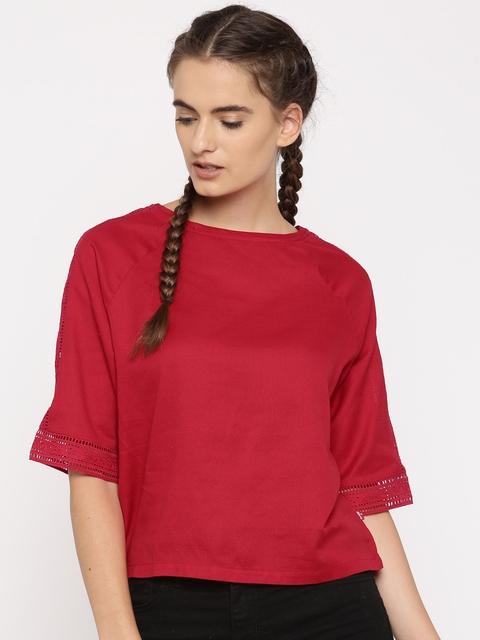 Levis Women Red Solid Top