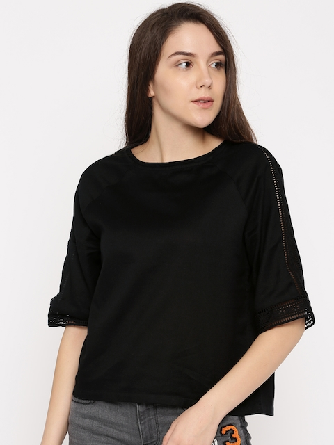 Levis Women Black Solid Top