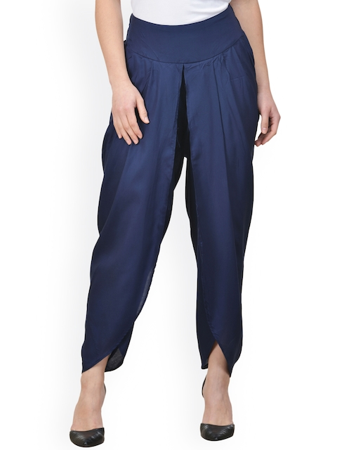 Castle Navy Solid Dhoti Pants