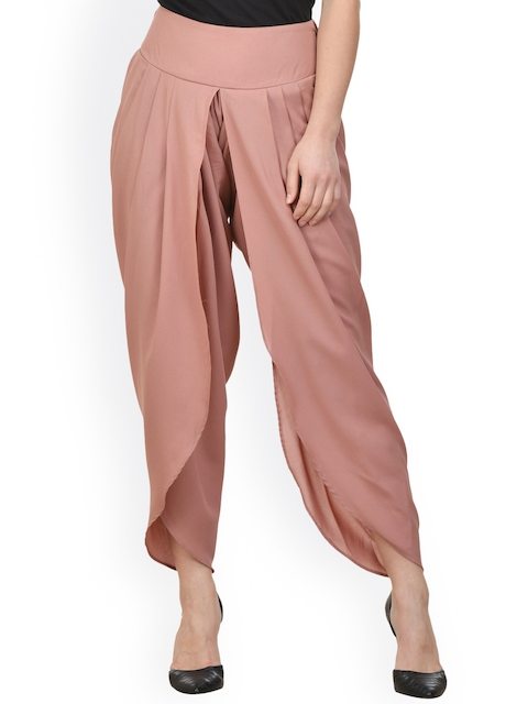 Castle Brown Solid Dhoti Pants