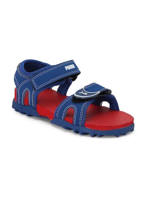 Puma Kids Unisex Blue Track PS IDP Sports Sandals