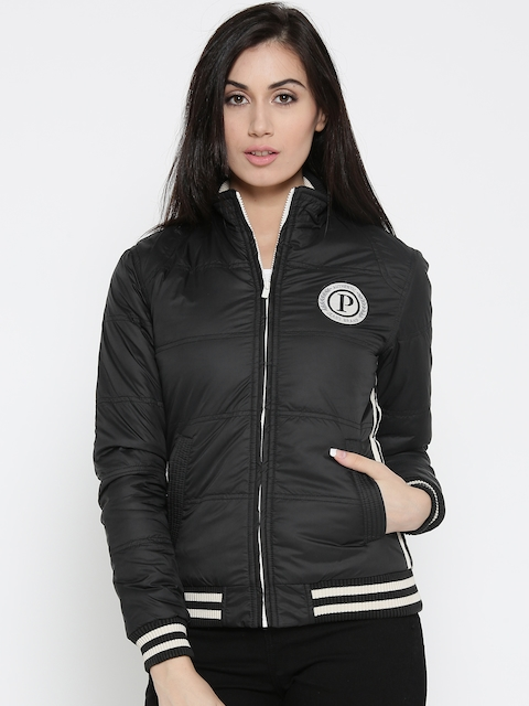 Pepe Jeans Women Black Solid Bomber Jacket
