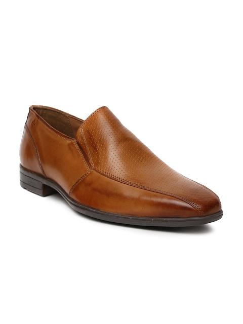 Arrow Men Tan Brown Harrison Leather Formal Slip-Ons
