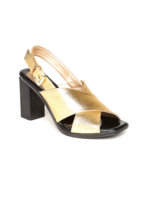 Catwalk Women Gold-Toned Solid Sandals