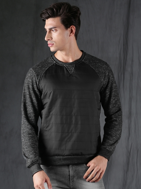WROGN Men Black Sweatshirt