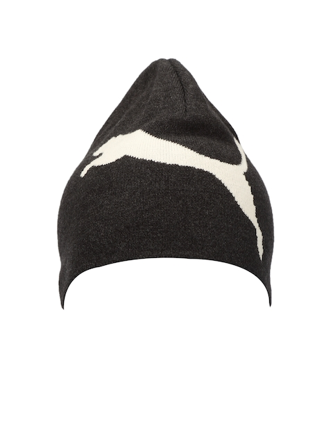 Puma Unisex Charcoal Grey ESS Big Cat/N1 Logo Beanie