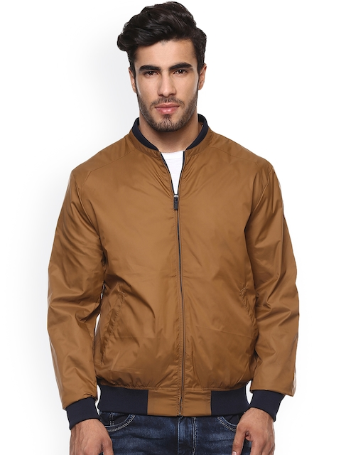 Mufti Men Brown Solid Padded Jacket