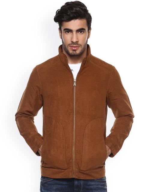 Mufti Men Brown Solid Bomber Jacket