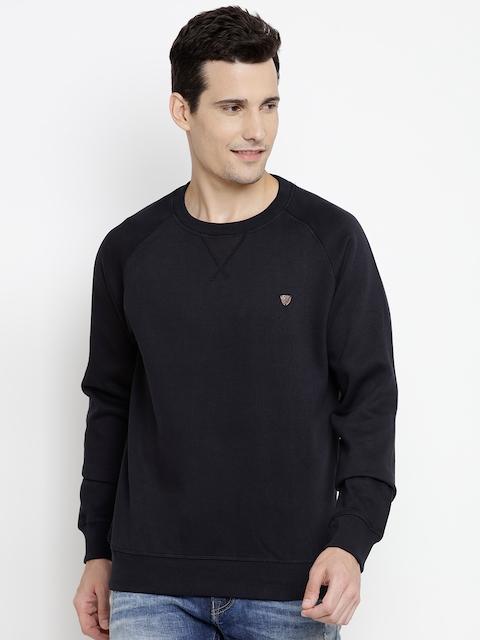 John Players Men Navy Solid Sweatshirt