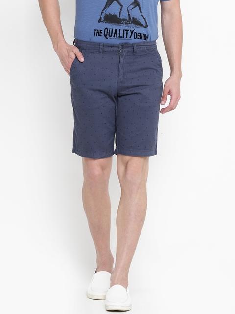 Lee Cooper Men Navy Printed Chino Shorts