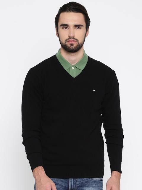 Arrow Sport Men Black Solid Pullover