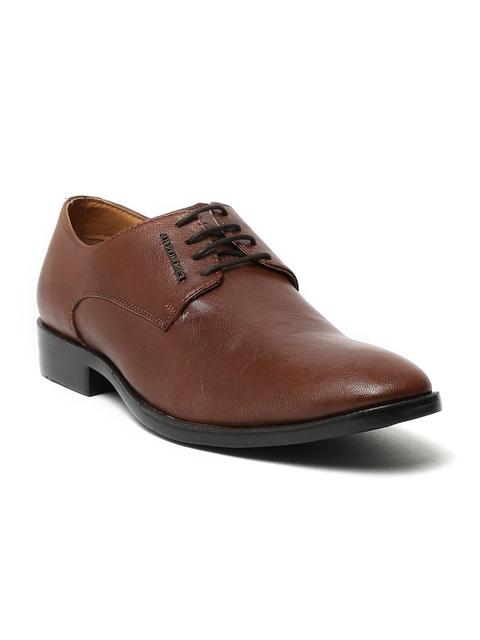 Alberto Torresi Men Brown Leather Derby Shoes