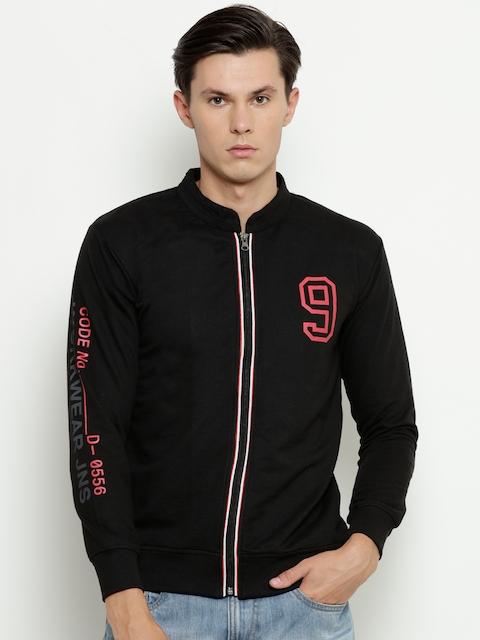 Duke Men Black Printed Detail Sweatshirt