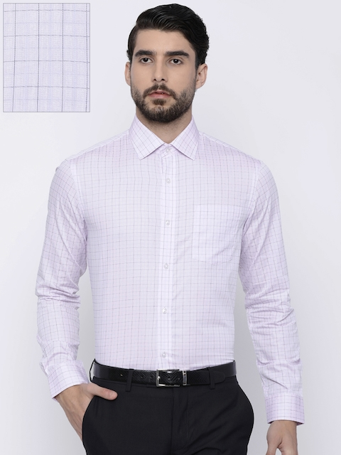 Arrow Men Pink Slim Fit Checked Formal Shirt