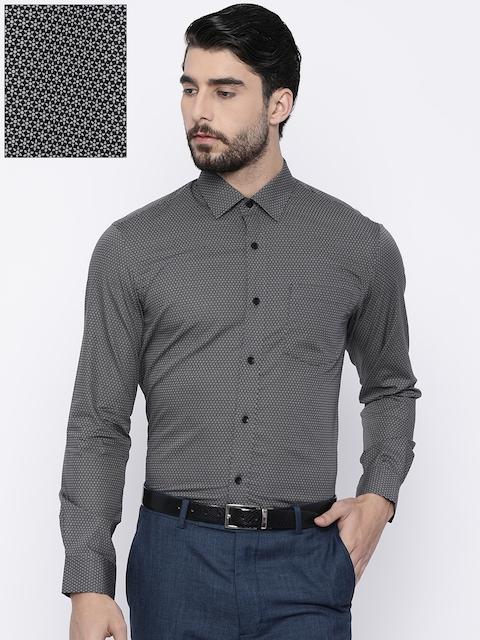 Arrow Men Black Slim Fit Printed Formal Shirt
