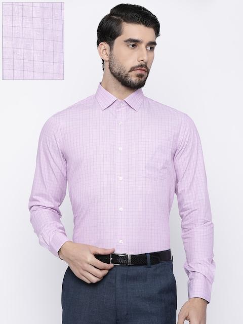Arrow Men Pink Slim Fit Checked Formal Shirt