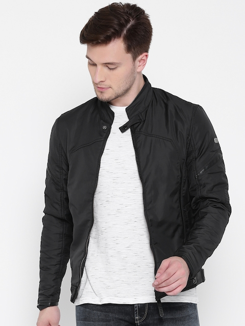 Ed Hardy Men Black Solid Tailored Jacket