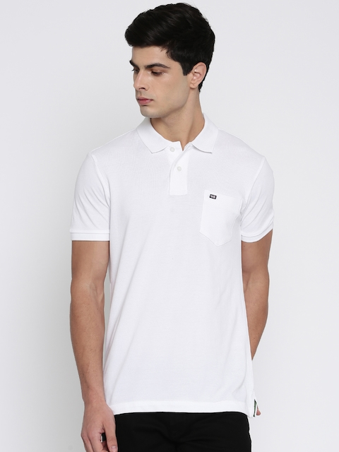 Arrow Sport Men White Solid Polo Collar T-shirt  available at myntra for Rs.499