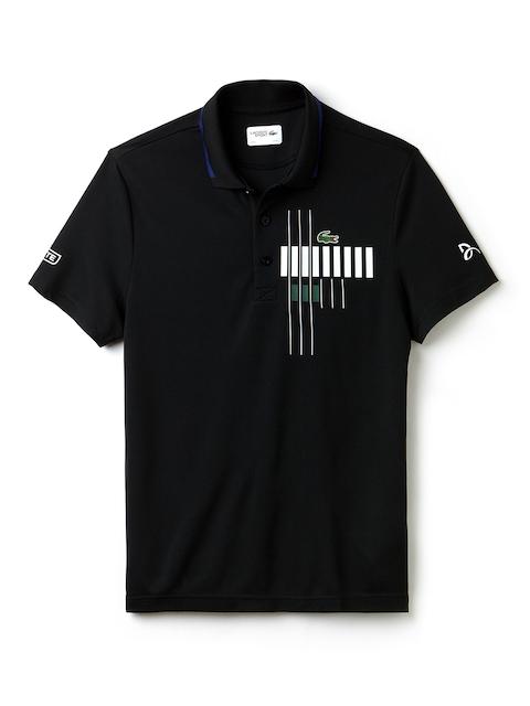 Lacoste Men Black Printed Polo