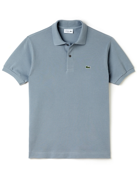 Lacoste Men Blue Solid Loose Fit Polo