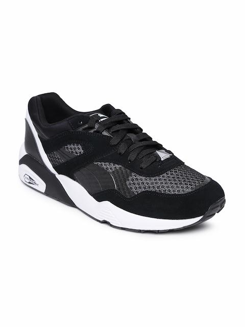Puma Men Black R698 Colorshift Sneakers