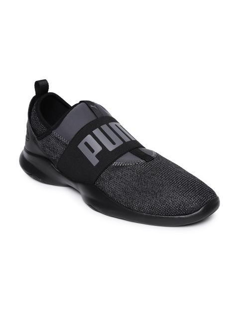 Puma Men Charcoal Grey Dare Tw Knit Slip-On Sneakers