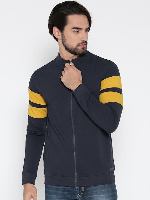 Peter England Casuals Men Navy Solid Sweatshirt