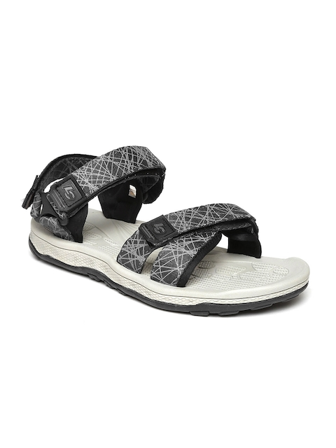 Roadster Men Black Printed Sports Sandals  available at myntra for Rs.1199