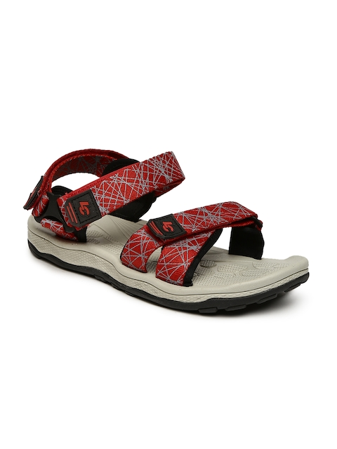 Lee Cooper Men Red Printed Sports Sandals  available at myntra for Rs.1199