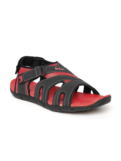 Lee Cooper Men Black & Red Sports Sandals  available at myntra for Rs.1274
