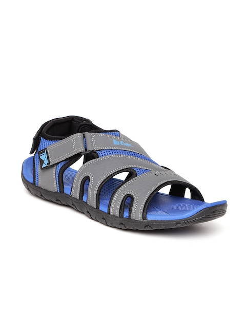 Lee Cooper Men Grey & Blue Sports Sandals  available at myntra for Rs.1274