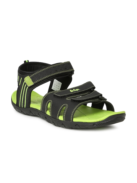 Lee Cooper Men Black Sports Sandals  available at myntra for Rs.1274