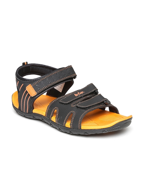 Roadster Men Black Sports Sandals  available at myntra for Rs.1274