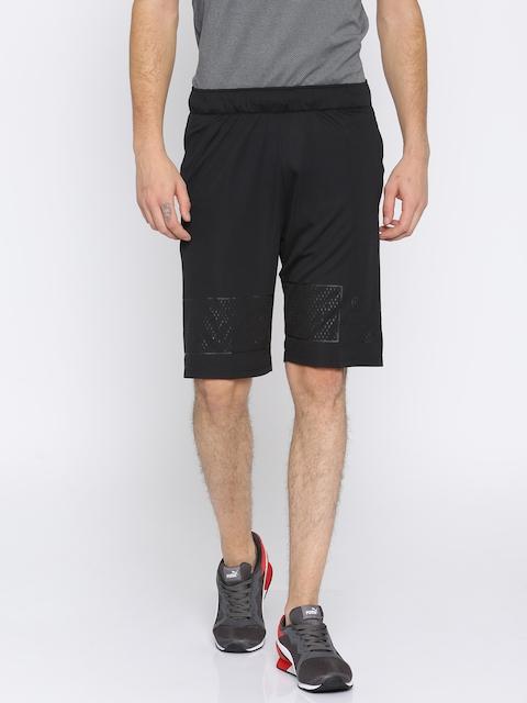 Puma Men Black Solid Regular Fit Motion Flex 10 Sports Shorts