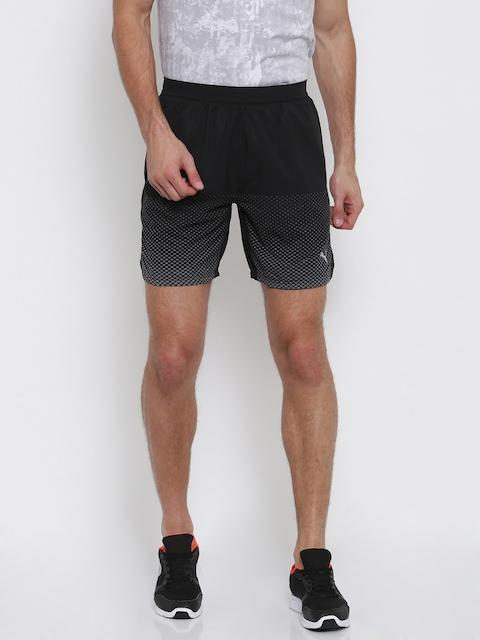 Puma Men Black Printed Pace 7 Graphic Sports Shorts
