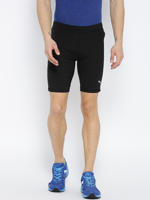 Puma Men Black Core Run Solid Sports Shorts