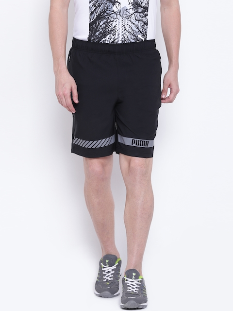 Puma Men Black Solid Active Tec Regular Fit Sports Shorts