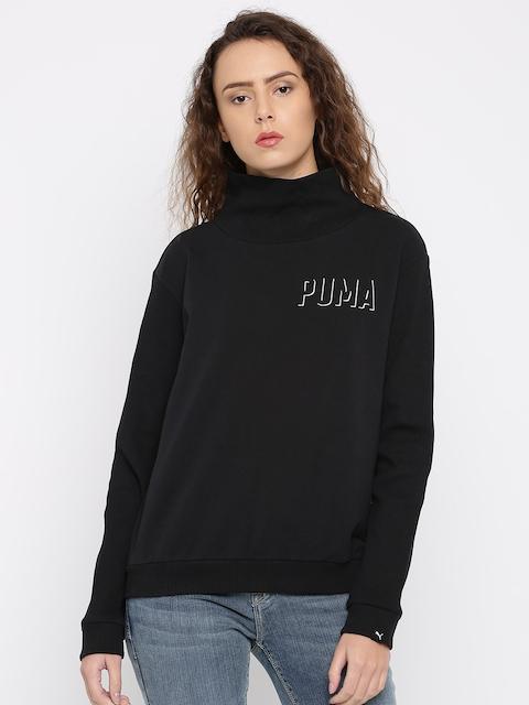 Puma Women Black Sweatshirt